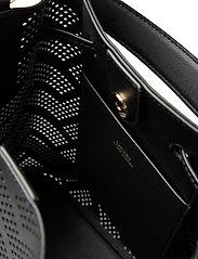 Lauren Ralph Lauren - Perforated Leather Debby Drawstring Bag - bucket bags - black - 4