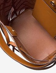 Lauren Ralph Lauren - Perforated Leather Debby Drawstring Bag - bucket bags - lauren tan - 4