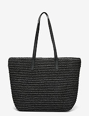 Lauren Ralph Lauren - Crochet-Straw Medium Whitney Tote - shoppere - black/black - 1