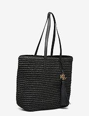 Lauren Ralph Lauren - Crochet-Straw Medium Whitney Tote - shoppere - black/black - 2