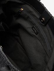 Lauren Ralph Lauren - Crochet-Straw Medium Whitney Tote - shoppere - black/black - 3