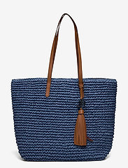 Lauren Ralph Lauren - Crochet-Straw Medium Whitney Tote - shoppere - medium blue/laure - 0