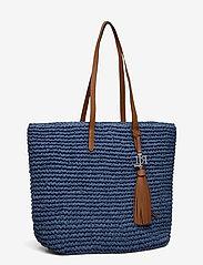 Lauren Ralph Lauren - Crochet-Straw Medium Whitney Tote - shoppere - medium blue/laure - 2
