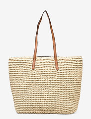Lauren Ralph Lauren - Crochet-Straw Medium Whitney Tote - shoppere - natural/lauren ta - 1