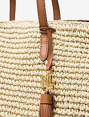 Lauren Ralph Lauren - Crochet-Straw Medium Whitney Tote - shoppere - natural/lauren ta - 3