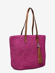 Lauren Ralph Lauren - Crochet-Straw Medium Whitney Tote - shoppere - nouveau bright pi - 2
