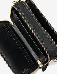 Lauren Ralph Lauren - Crosshatch Leather Danna Crossbody - crossbody bags - black - 3