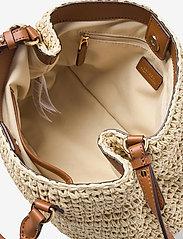 Lauren Ralph Lauren - Crochet-Straw Mini Marcy II Satchel - skuldertasker - natural/lauren ta - 4