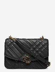Plaid Quilted Madison Crossbody Bag - BLACK