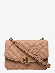 Plaid Quilted Madison Crossbody Bag - NUDE