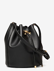 Lauren Ralph Lauren - Leather Medium Andie Drawstring Bag - bucketväskor - black - 2