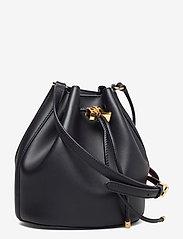Lauren Ralph Lauren - Leather Medium Andie Drawstring Bag - bucket-laukut - lauren navy - 2