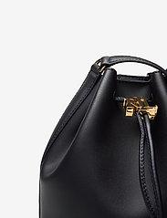 Lauren Ralph Lauren - Leather Medium Andie Drawstring Bag - bucket-laukut - lauren navy - 3