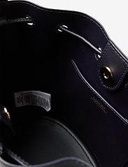 Lauren Ralph Lauren - Leather Medium Andie Drawstring Bag - bucket-laukut - lauren navy - 4