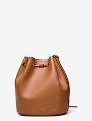 Lauren Ralph Lauren - Leather Medium Andie Drawstring Bag - bucketväskor - lauren tan - 1