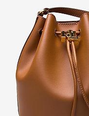 Lauren Ralph Lauren - Leather Medium Andie Drawstring Bag - bucketväskor - lauren tan - 3