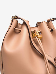 Lauren Ralph Lauren - Leather Medium Andie Drawstring Bag - bucketväskor - nude - 3