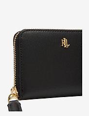 Lauren Ralph Lauren - Leather Zip Wallet - beurzen - black/crimson - 3