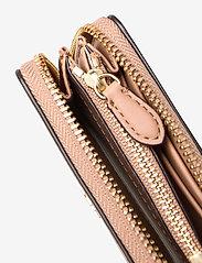 Lauren Ralph Lauren - Leather Zip Wallet - portfele - nude/nude - 4
