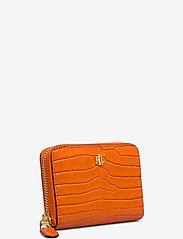 Lauren Ralph Lauren - Leather Small Zip Wallet - beurzen - sailing orange - 2