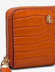 Lauren Ralph Lauren - Leather Small Zip Wallet - beurzen - sailing orange - 3