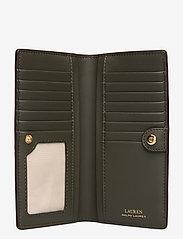 Lauren Ralph Lauren - Slim Pebbled Leather Wallet - beurzen - deep olive - 4