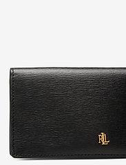 Lauren Ralph Lauren - Saffiano Slim Leather Wallet - beurzen - black - 3