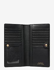 Lauren Ralph Lauren - Saffiano Slim Leather Wallet - beurzen - black - 4