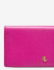 Lauren Ralph Lauren - Saffiano Slim Leather Wallet - beurzen - deep fuchsia - 3