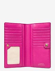 Lauren Ralph Lauren - Saffiano Slim Leather Wallet - beurzen - deep fuchsia - 4