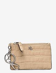 Lauren Ralph Lauren - Embossed Leather Zip Card Case - kortholdere - dune tan - 0