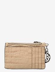 Lauren Ralph Lauren - Embossed Leather Zip Card Case - kortholdere - dune tan - 1