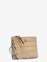 Lauren Ralph Lauren - Embossed Leather Zip Card Case - kortholdere - dune tan - 2