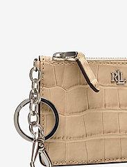 Lauren Ralph Lauren - Embossed Leather Zip Card Case - kortholdere - dune tan - 3
