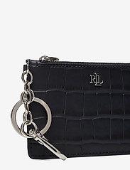 Lauren Ralph Lauren - Embossed Leather Zip Card Case - kortholdere - lauren navy - 3