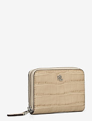Lauren Ralph Lauren - Embossed-Leather Small Zip Wallet - punge - dune tan - 2