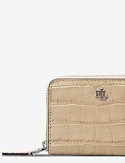 Lauren Ralph Lauren - Embossed-Leather Small Zip Wallet - punge - dune tan - 3
