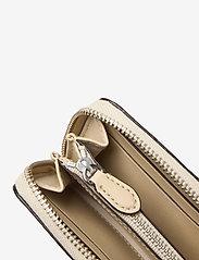 Lauren Ralph Lauren - Embossed-Leather Small Zip Wallet - punge - dune tan - 4