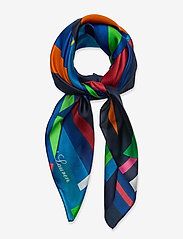 Lauren Ralph Lauren - Caren Square Silk Twill Scarf - tørklæder - holiday navy - 0
