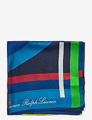 Lauren Ralph Lauren - Caren Square Silk Twill Scarf - tørklæder - holiday navy - 1