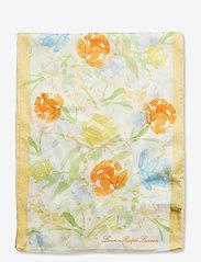 Lauren Ralph Lauren - Anna Silk Twill Scarf - tynde tørklæder - cream - 1