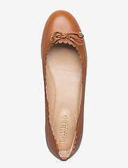 Lauren Ralph Lauren - Glennie Leather Flat - ballerinasko - deep saddle tan - 2