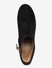 Lauren Ralph Lauren - Wharton Suede Boot - ankelstøvletter med hæl - black - 3