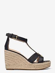 Lauren Ralph Lauren - Hale Leather Sandal - højhælede espadrillos - black - 1