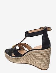 Lauren Ralph Lauren - Hale Leather Sandal - højhælede espadrillos - black - 2
