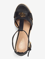 Lauren Ralph Lauren - Hale Leather Sandal - højhælede espadrillos - black - 3