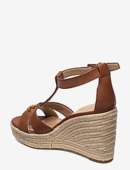 Lauren Ralph Lauren - Hale Leather Sandal - højhælede espadrillos - deep saddle tan - 2