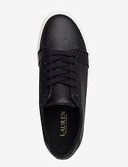 Lauren Ralph Lauren - Joslin Leather Sneaker - sneakersy niskie - black - 3
