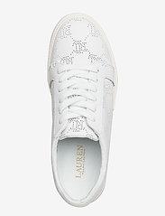 Lauren Ralph Lauren - Joslin Leather Sneaker - sneakersy niskie - rl white - 3