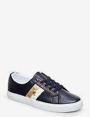 Lauren Ralph Lauren - Janson II Leather Sneaker - sneakersy niskie - lauren navy/optic - 0